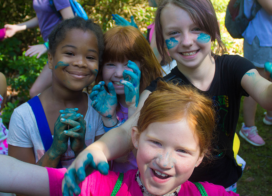Campers with face paint - photo courtesy of Girl Scouts of the Chesapeake Bay
