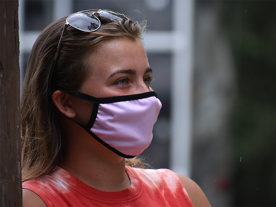 Summer Camp Staff wearing face mask