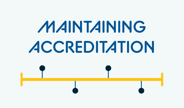 Maintaining Accreditation graphic