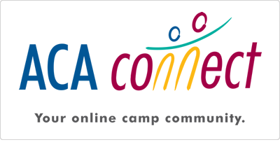 "ACA Connect logo with tagline ""Your online camp community"""