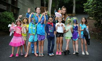 campers dressed up in costume
