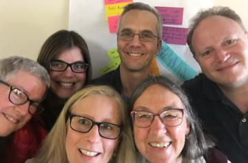 CARE members from far left:  Mary Rogers, Cass Morgan, Tom Akiva, Scott Brody, Marianne Bird, and ACA Staff Laurie Browne
