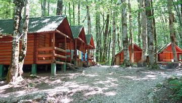 stock photo of cabins