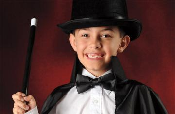 Kids dressed up as a magician