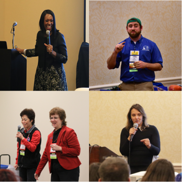 Speakers presenting in sessions