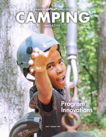 July/August Camping Magazine cover