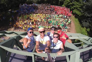 Selfie of whole camp