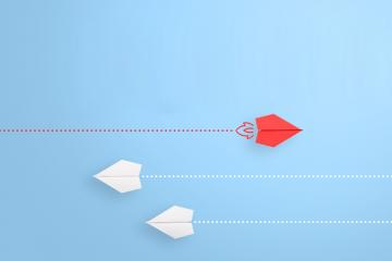 stock photo of paper airplanes