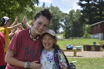 counselor and camper - Photo courtesy of URJ Camp Harlam