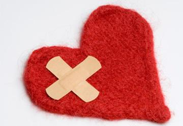 Heart with bandages