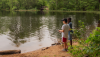 campers fishing